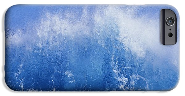 Turbulent Skies iPhone Cases - Crashing On Shore iPhone Case by Vince Cavataio - Printscapes