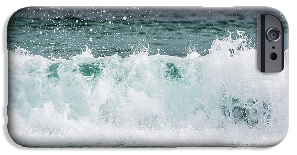 Splashy iPhone Cases - Crashing Waves iPhone Case by Shelby  Young