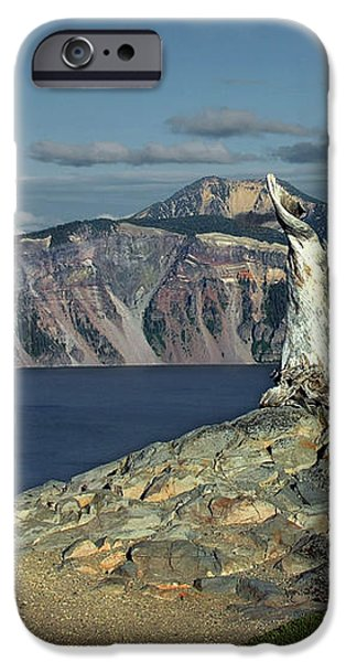 Crater Lake - A Most Sacred Place among the Indians of Southern Oregon iPhone Case by Christine Till