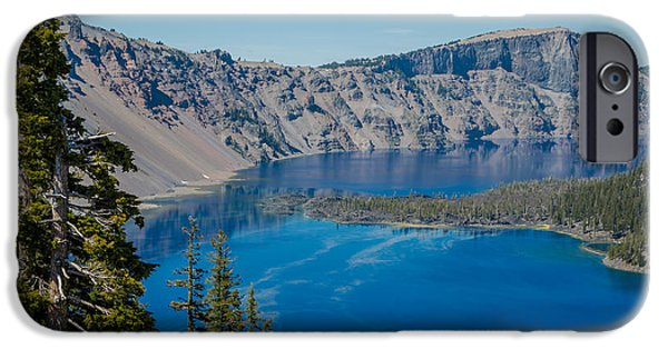 Pines iPhone Cases - Crater Lake 2 iPhone Case by Mark Beecher