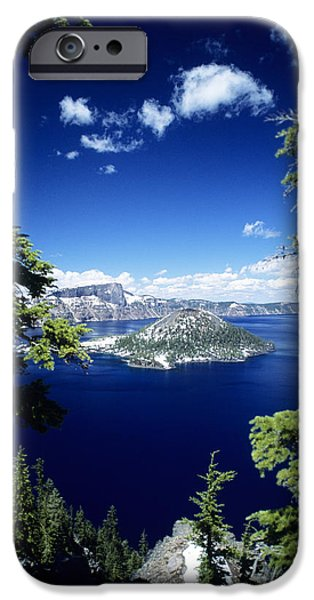 Printscapes - iPhone Cases - Crater Lake iPhone Case by Allan Seiden - Printscapes