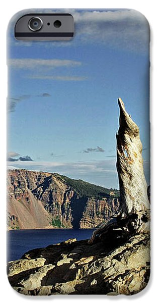 Crater Lake in the southern Cascades of Oregon iPhone Case by Christine Till
