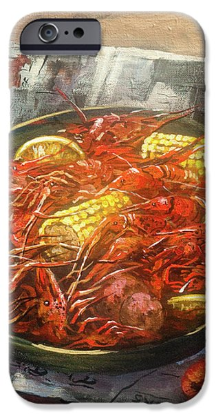 Crawfish Celebration iPhone Case by Dianne Parks