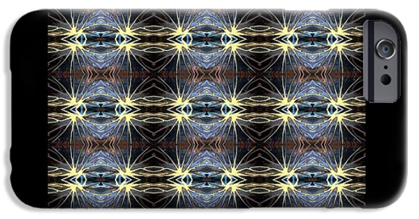 Abstract Digital Tapestries - Textiles iPhone Cases - CrazieArt Designs by Thi - Gabriella iPhone Case by Thia Stover
