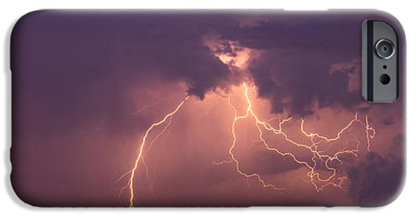 Lightning Bolts iPhone Cases - Crazy Bolts iPhone Case by Darren  White