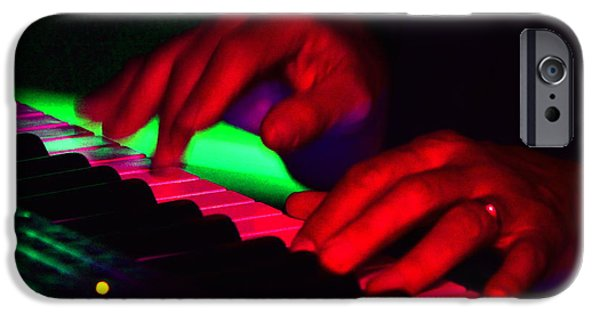 Piano iPhone Cases - Crazy Fingers II iPhone Case by Jesse Ciazza