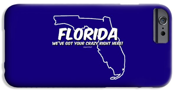 Sports Tapestries - Textiles iPhone Cases - Crazy Florida iPhone Case by Garrett Wesley