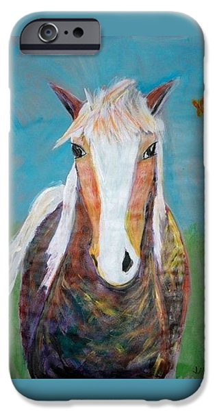 Recently Sold -  - Multimedia iPhone Cases - Crazy Horse iPhone Case by Jessica McCallum