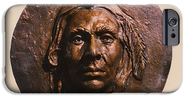 People Sculptures iPhone Cases - Crazy Horse iPhone Case by Vincent von Frese