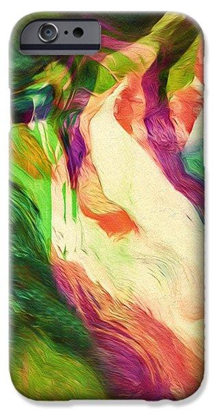 Birds iPhone Cases - Crazy Modern Wild Life Abstract iPhone Case by Georgiana Romanovna