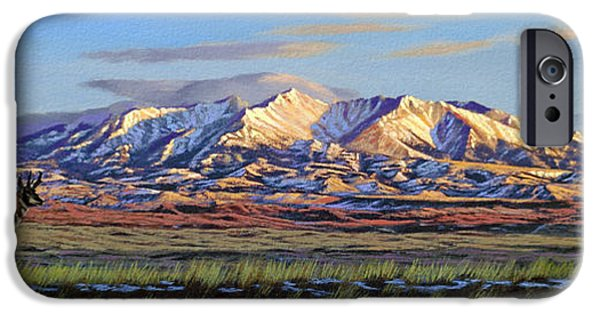 Morning iPhone Cases - Crazy Mountains-Morning iPhone Case by Paul Krapf