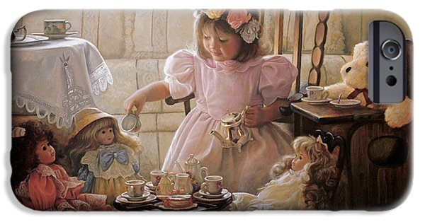 Little Girl iPhone Cases - Cream and Sugar iPhone Case by Greg Olsen