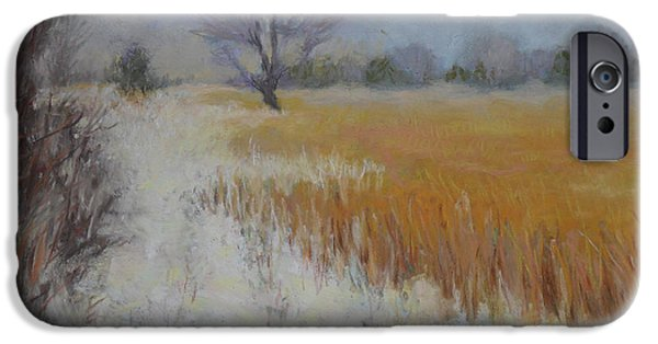 Snowy Pastels iPhone Cases - Cream of Wheat iPhone Case by Julie Mayser
