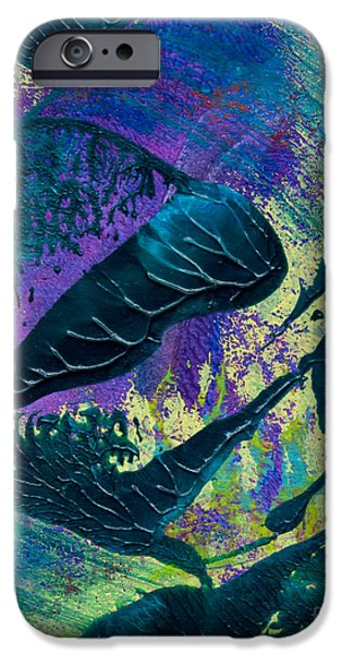 Abstract Digital Mixed Media iPhone Cases - Creamy Blue Bliss iPhone Case by Laura L Leatherwood