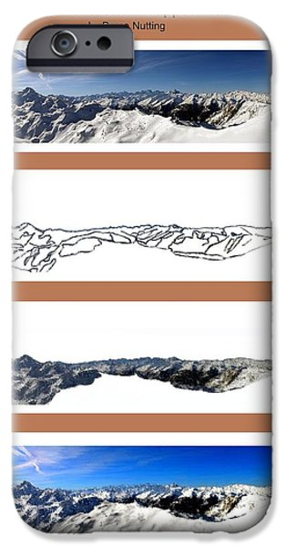 Mounds iPhone Cases - Creation of a Snow Capped Mountain iPhone Case by Bruce Nutting
