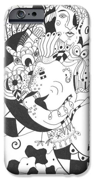 Creatures and Features iPhone Case by Helena Tiainen