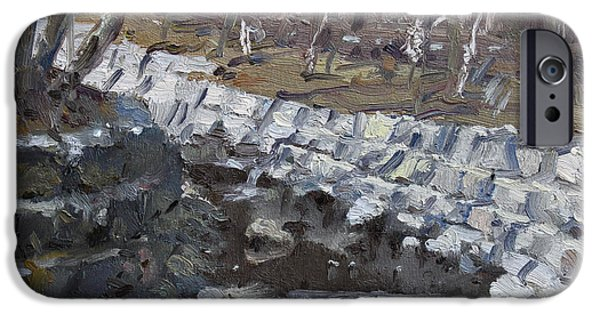 Village iPhone Cases - Creek in the Park iPhone Case by Ylli Haruni