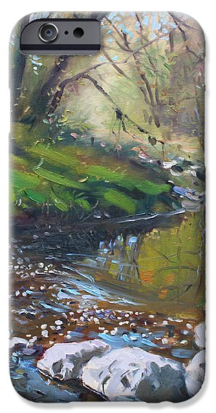 Creek in the Woods iPhone Case by Ylli Haruni