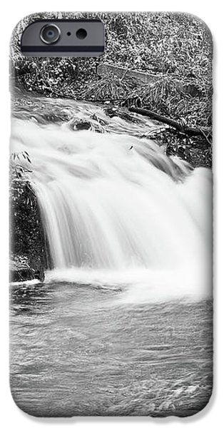 Creek Merge Waterfall in Black and White iPhone Case by James BO  Insogna