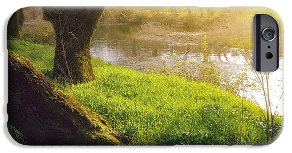 River View iPhone Cases - Creek Shore  iPhone Case by Carlos Caetano