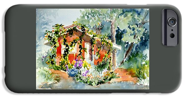 Recently Sold -  - Shed iPhone Cases - Creekside Retreat iPhone Case by Lynee Sapere