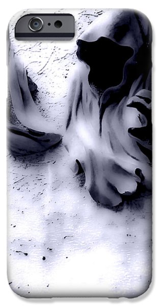 Gray Hair iPhone Cases - Creeping Death iPhone Case by James Aiken