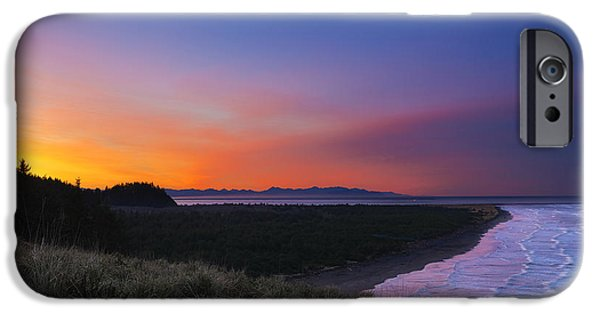 Cape Disappointment iPhone Cases - Crescent Moon Sunrise iPhone Case by Ryan Manuel