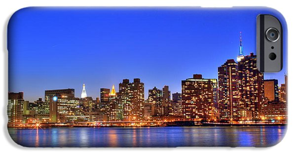Hudson River iPhone Cases - Crimson Blue iPhone Case by Tony Ambrosio
