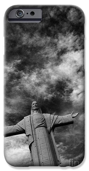 Eternal Inspirational iPhone Cases - Cristo de la Concordia Cochabamba iPhone Case by James Brunker
