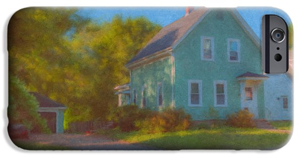 Mcentee Paintings iPhone Cases - Crocker Family Home iPhone Case by Bill McEntee