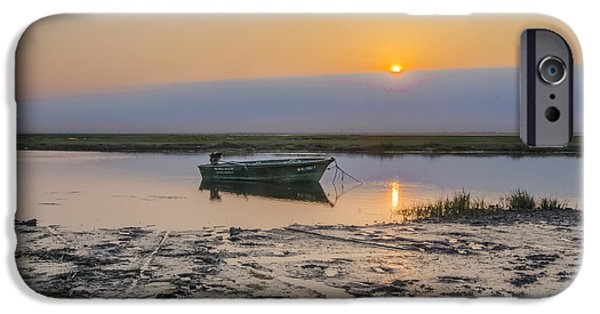 Boat iPhone Cases - Crooked Creek - Stone Harbor New Jersey iPhone Case by Bill Cannon