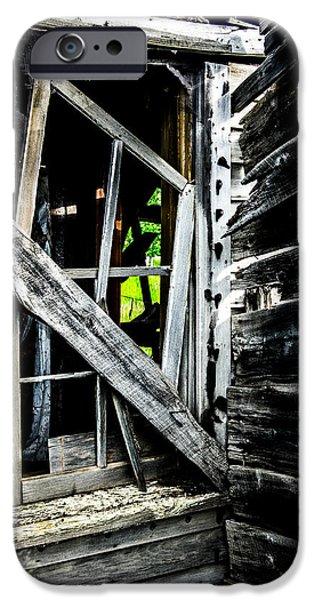 Cabin Window iPhone Cases - Crooked iPhone Case by Jennifer Zaloudek