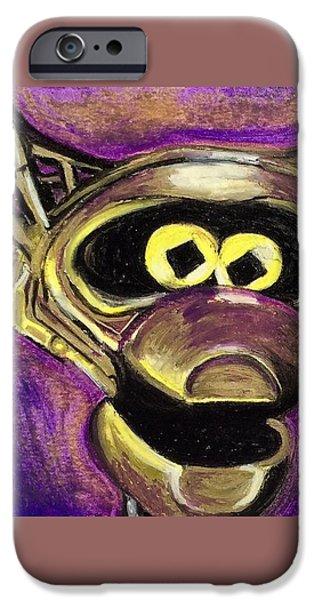 Outer Space Pastels iPhone Cases - Crooooooooooow iPhone Case by Jessica Ritenour