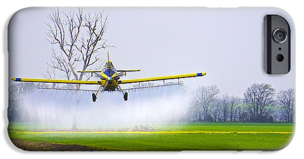 Arkansas iPhone Cases - Precision Flying - Crop Dusting 1 of 2 iPhone Case by Charlie Brock