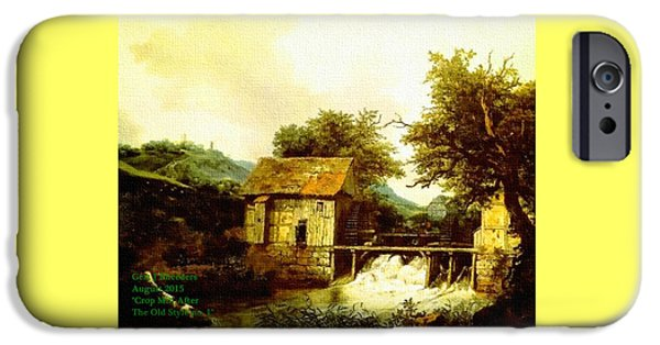 Abstract Digital Pastels iPhone Cases - Crop Mill After The Old Style. H A iPhone Case by Gert J Rheeders