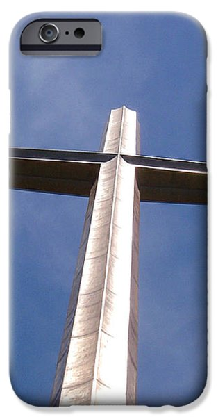 Cross at St. Augustine iPhone Case by Kenneth Albin