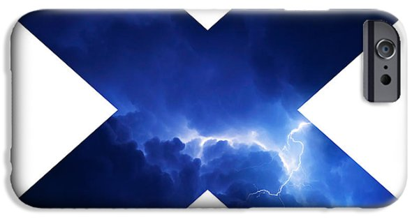 Electrical iPhone Cases - Cross Storm iPhone Case by Taylan Soyturk
