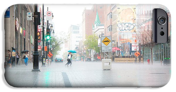 Raining iPhone Cases - Crossing iPhone Case by Adriana Assis
