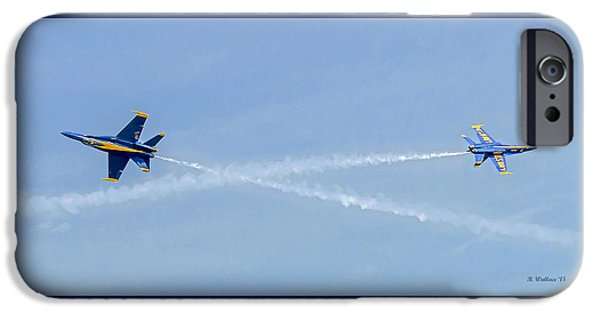 Angel Blues iPhone Cases - Crossing The Line iPhone Case by Brian Wallace