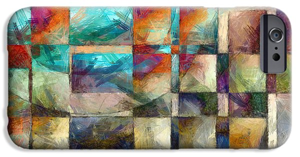 Pillow iPhone Cases - Crossover Abstract iPhone Case by Edward Fielding