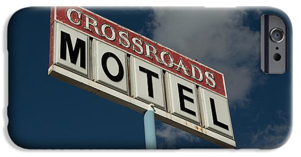 United States iPhone Cases - Crossroads Motel iPhone Case by Stephen Allen