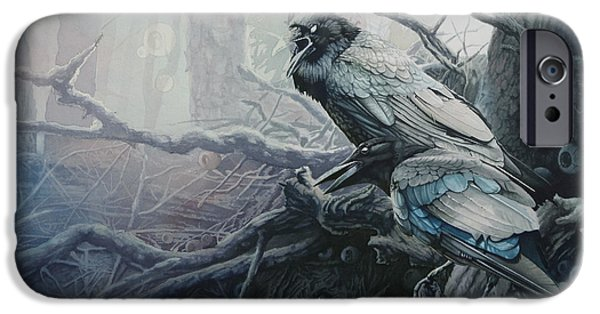 Crows iPhone Cases - Crow and Raven iPhone Case by Gregory Gopp