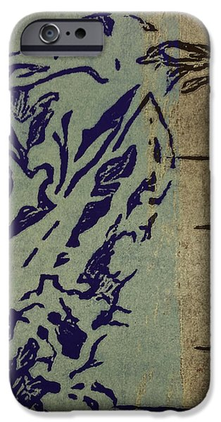 Printmaking Reliefs iPhone Cases - Crow iPhone Case by Catlin Perry