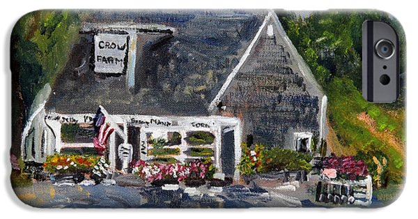 Farm Stand iPhone Cases - Crow Farm Sandwich iPhone Case by Michael Helfen