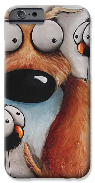 Crows iPhone Cases - Crowded Friday iPhone Case by Lucia Stewart