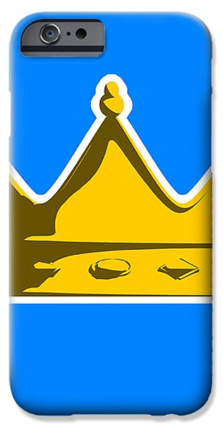 Crown Graphic Design iPhone Case by Pixel Chimp