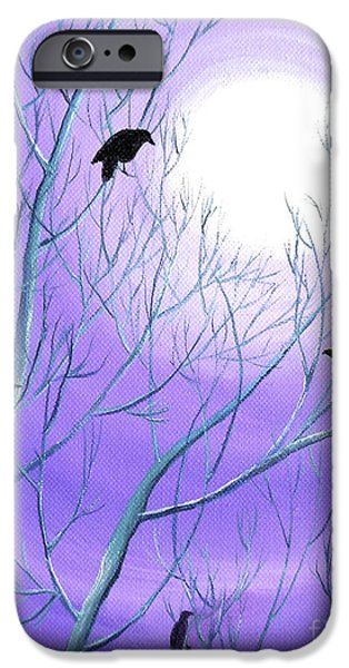 Crows iPhone Cases - Crows on Empty Branches iPhone Case by Laura Iverson