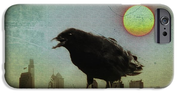 Crows iPhone Cases - Crowzilla iPhone Case by Bill Cannon