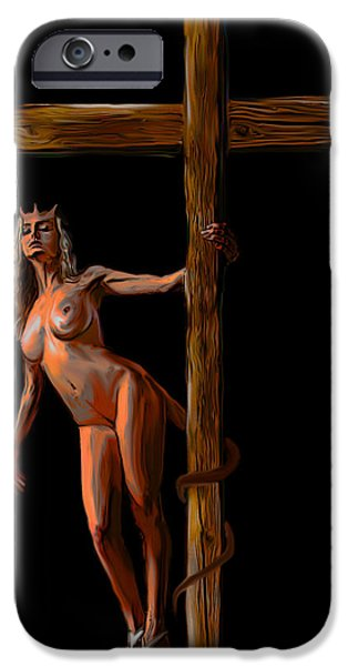 Crucified iPhone Case by Tbone Oliver