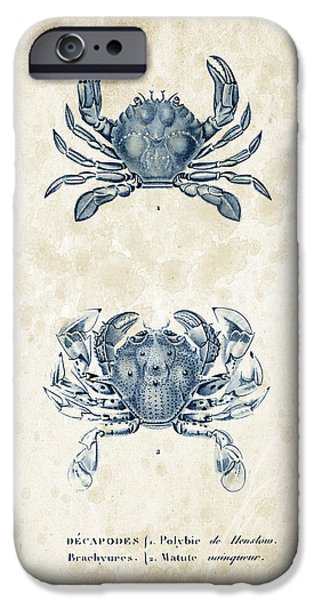Fossil iPhone Cases - Crustaceans - 1825 - 05 iPhone Case by Aged Pixel
